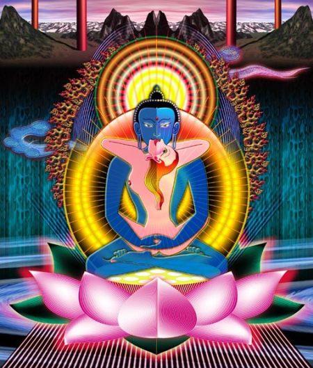 Ssamantabhadra & sa parèdre Samantabhadri (peinture trouvée sur le net sans ©)