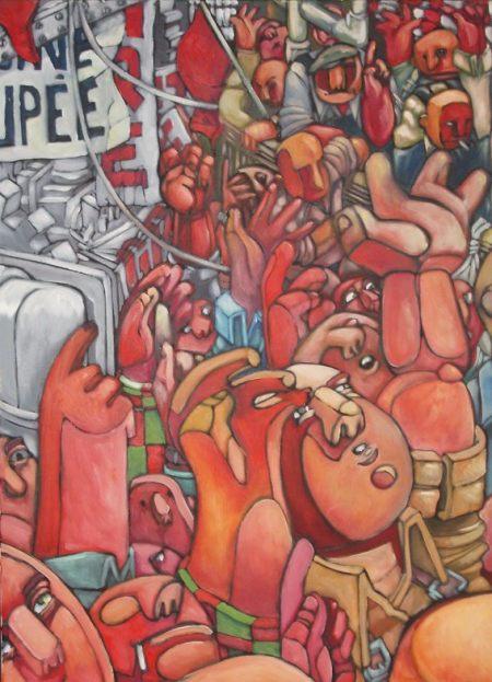 [Vote (à l'unanimité) de la grève] - Peinture de MATHIEU COLLOGHAN